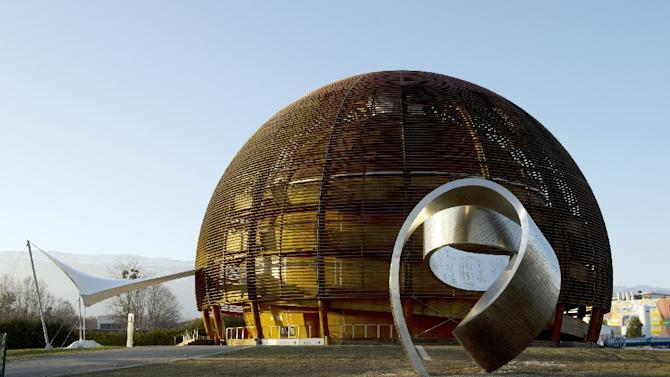 The Globe of Science and Innovation at the European Organisation for Nuclear Research (CERN) in Meyrin, near Geneva, Switzerland, on February 10, 2015