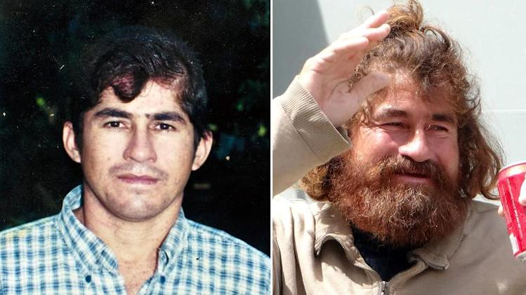 Undated picture of Pacific castaway Jose Salvador Alvarenga before (left) setting sail on a shark fishing expedition in 2012 and after he was rescued in Majuro, on February 3, 2014
