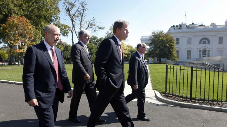 Company CEOs arrive at the White House in Washington