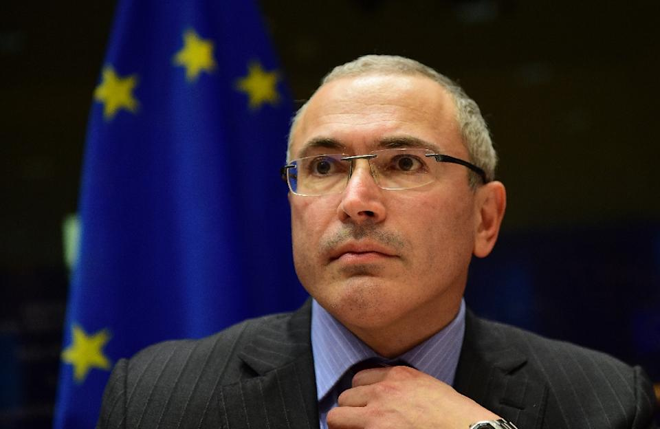 Mihail Khodorkovsky, founder of the Open Russia Movement, addresses the Committee on Foreign Affairs at the European Parliament in  Brussels, on...