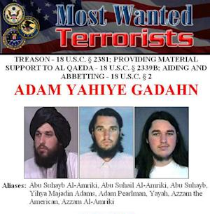 This image obtained from the FBI shows the wanted poster…