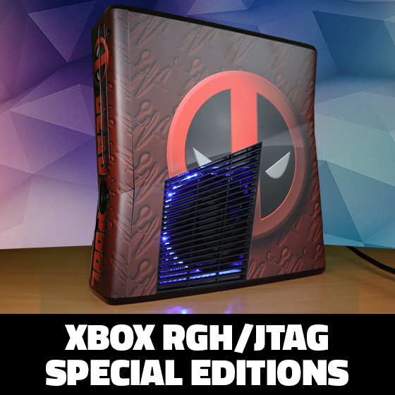 Modded Xbox 360 RGH Special Editions