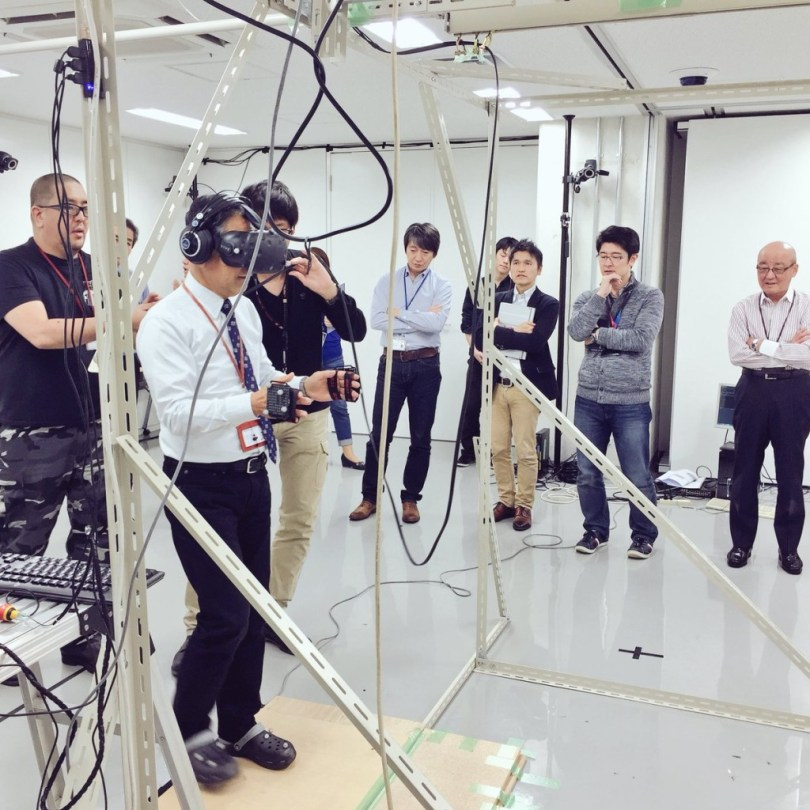 Early tests with HTC Vive.