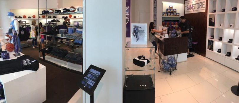 In-store Sacramento Kings VR experience.