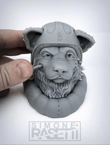 3D rapid resin - Monocure Grey