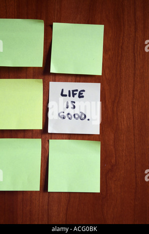 Life Is Good Written On Post It Note Memo Stock Photo