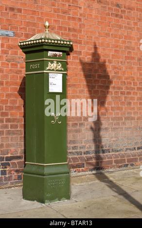 Green Victorian Post Box Or Pillar Box In Windsor
