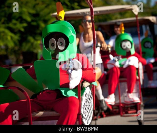Costumed Revelers During Fantasy Fest Halloween Parade In
