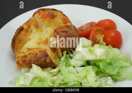 Jacket Potato With Cheese And Salad Stock Photo: 19332828 ...