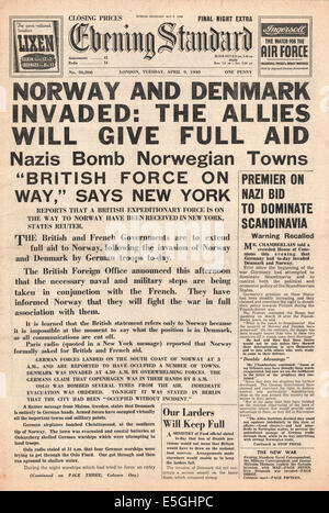 Image result for norway invaded newspaper