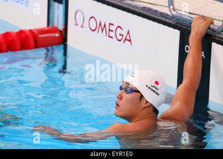 Kazan, Russia. 3rd Aug, 2015. Head coach Arno Havenga (L ...
