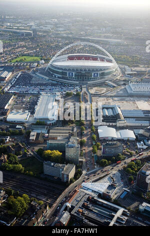 Aerial View Of Wembley Stadium London UK Stock Photo