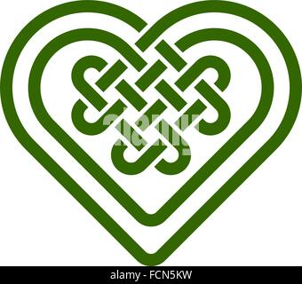 Download Celtic love knot, intertwined heart shape and triquetra ...