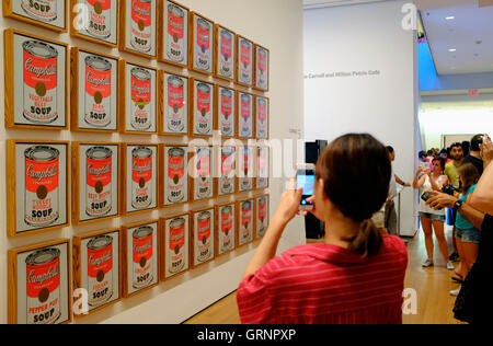 Campbell's Soup Cans (1962), Andy Warhol, MoMA, New York ...