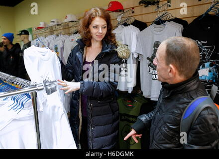 Kaliningrad, Russia. 26th Oct, 2016. A man tries on a ...