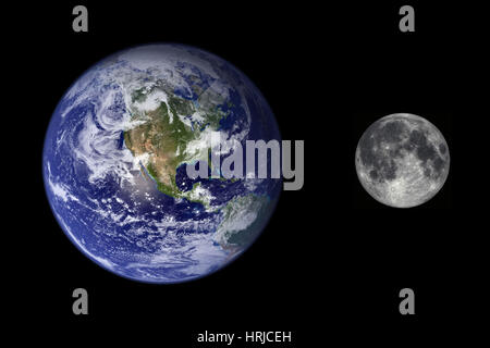 full size comparison of solar system planets Stock Photo