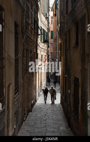 Italy Liguria Genoa Via San Vincenzo - shopping Pedestrian ...