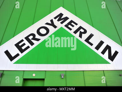 leroy merlin logo stock photo alamy