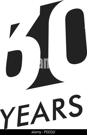 Download Isolated abstract black 30th anniversary logo on white ...