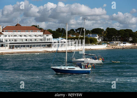 Sandbanks Poole Dorset England Uk September 2019 The