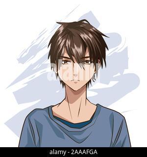 jeune garcon caractere style hentai