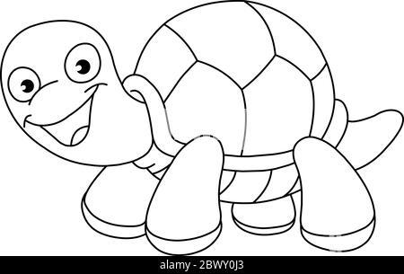 noir et blanc coloriage tatouage tortue