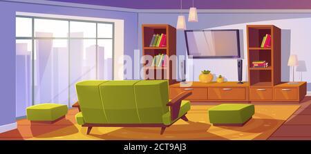 interieur salon avec canape et
