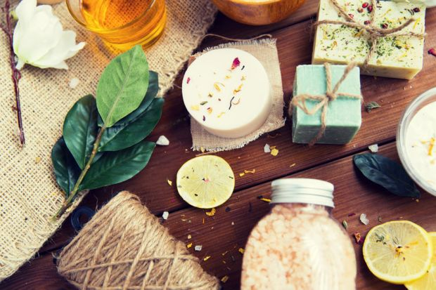 79310678 - close up of body care cosmetic products on wood