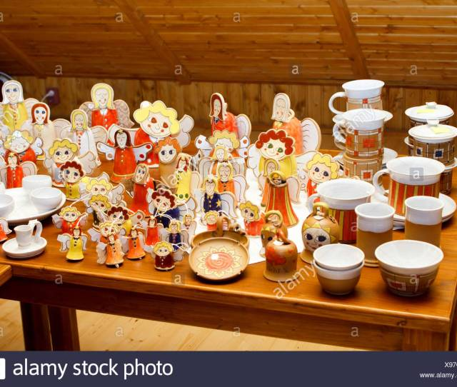 Angel Angels Christmas Decorations Ceramic Hand Made Xmas X Mas Indicate Show