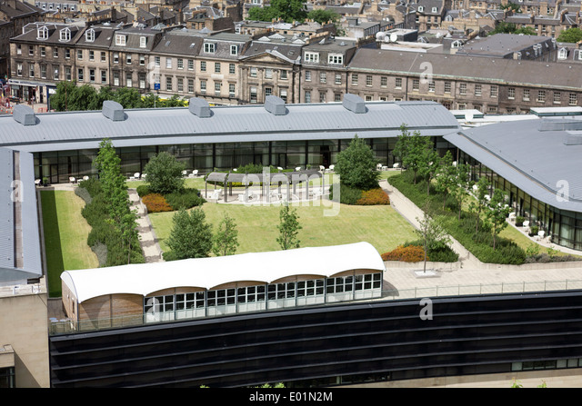 the rooftop garden of the glasshouse 5 start luxury hotel viewed form e01n2m - THE MOST AMAZING ROOF TOP GLASS HOUSE IDEAS AND PICTURES