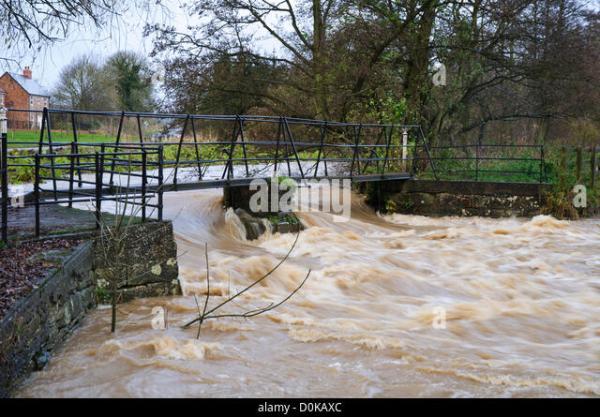 Flood Water Bridge Weir Stock Photos & Flood Water Bridge ...
