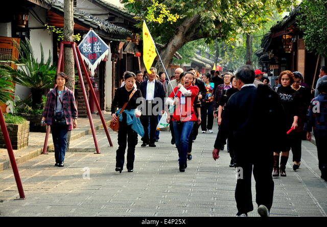 Image result for chinese flag in a city