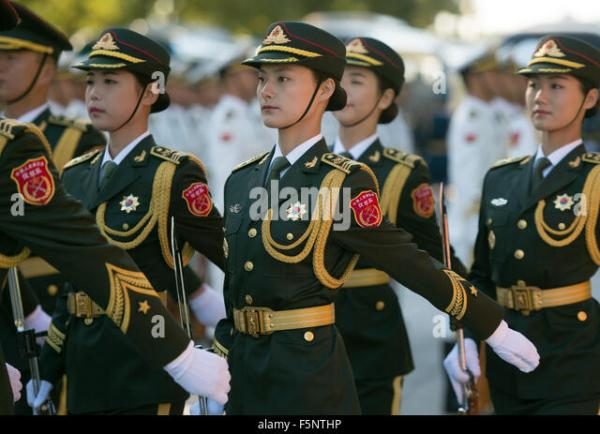 Female Soldier Peoples Liberation Army Stock Photos ...