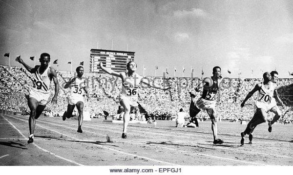 Mens 100m Sprint Final, Wembley Stadium, London, Sunday ...