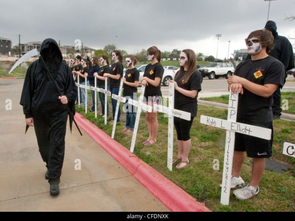 High School Students Participate In The Shattered Dreams ...