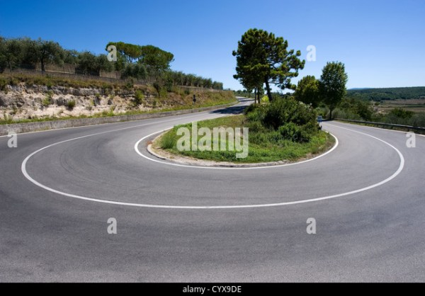 Hairpin Bend On Mountain Road Stock Photos & Hairpin Bend ...