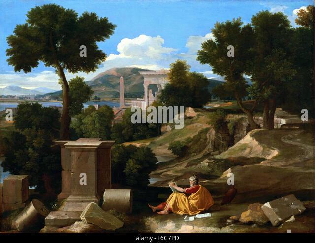Nicolas Landscape Patmos 1640 Poussin John St
