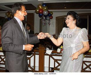 Image result for george hamilton and imelda marcos
