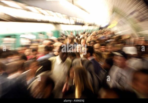 Paris Subway Crowd Stock Photos & Paris Subway Crowd Stock ...