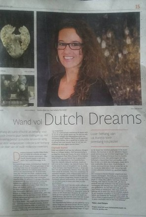 Interview Aurelia Ebbe in het Noordhollands Dagblad