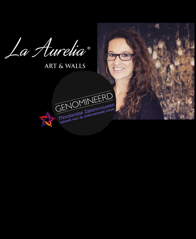 Aurelia Ebbe, eigenaar van La Aurelia is genomineerd voor Flevolandse Zakenvrouw 2016 categorie Zelfstandige Professional