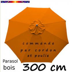 parasol lacanau orange capucine 300 cm bois