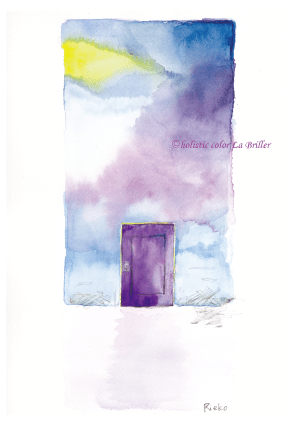 今日のテーマカラー:紫「記憶をたどる」