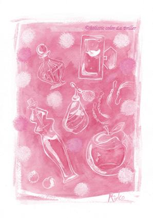今日のテーマカラー:ピンク「素直でいこう!」