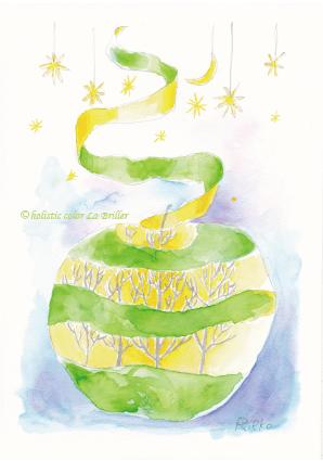 今日のテーマカラー:黄緑「チャレンジ」