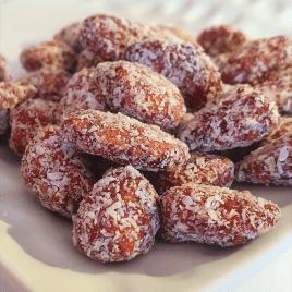 Amandes caramélisées à la noix de coco 100 % bio