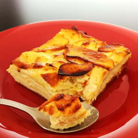 Gâteau invisible aux pommes protéiné