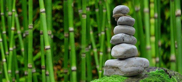 Zen Garden Meditation Monk Stones