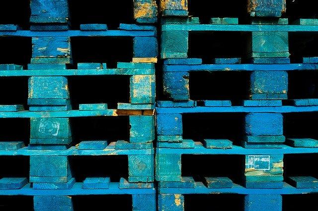 Palette bleue