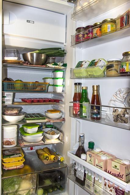 Stock nourriture frigo